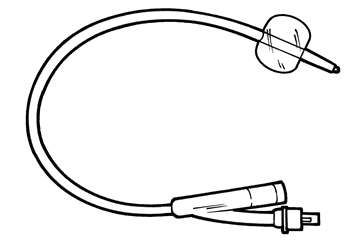 Catheter with balloon inflated