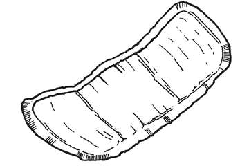 Small shaped pad - line drawing